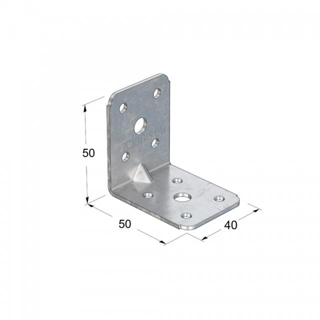 METAL CORNER 50x50x40 / GALVANIZED